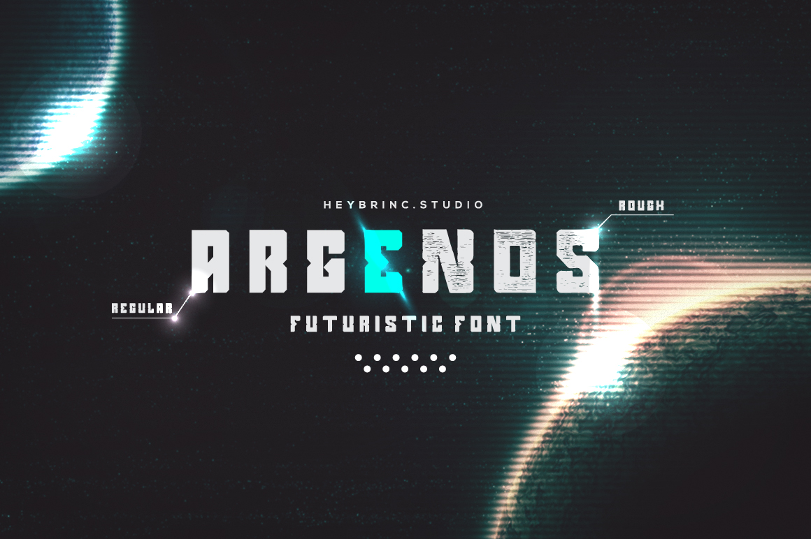 Argenos - Futuristic Font example image 1