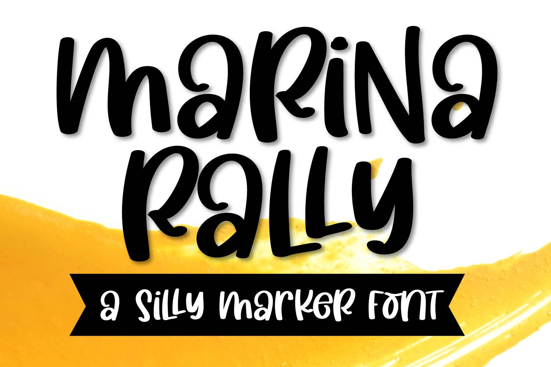 Marina Rally - A Silly Marker Font example image 1
