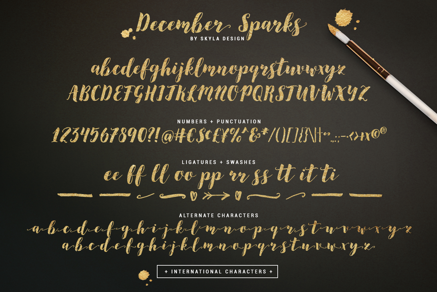 Modern brush calligraphy font, December Sparks example image 6