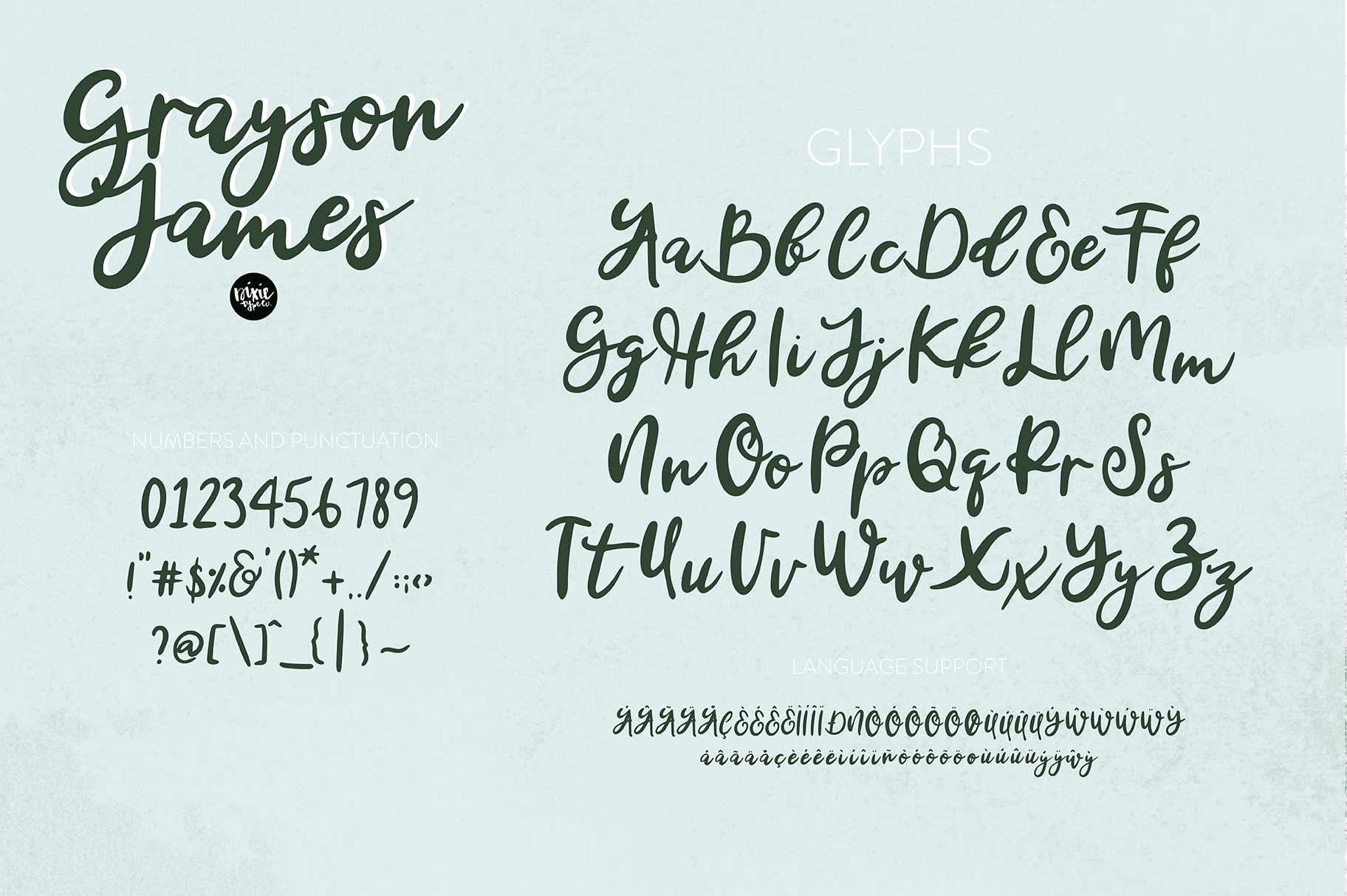 GRAYSON JAMES Bold Script .OTF Font example image 5