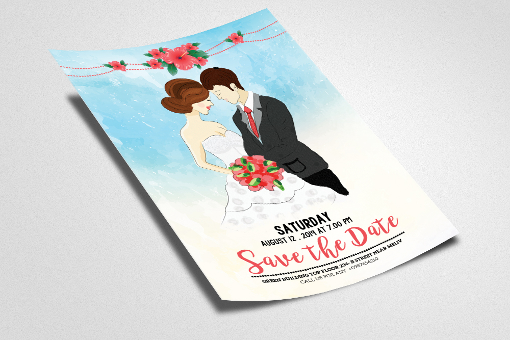 Save The Date Invitation Flyer Template example image 2