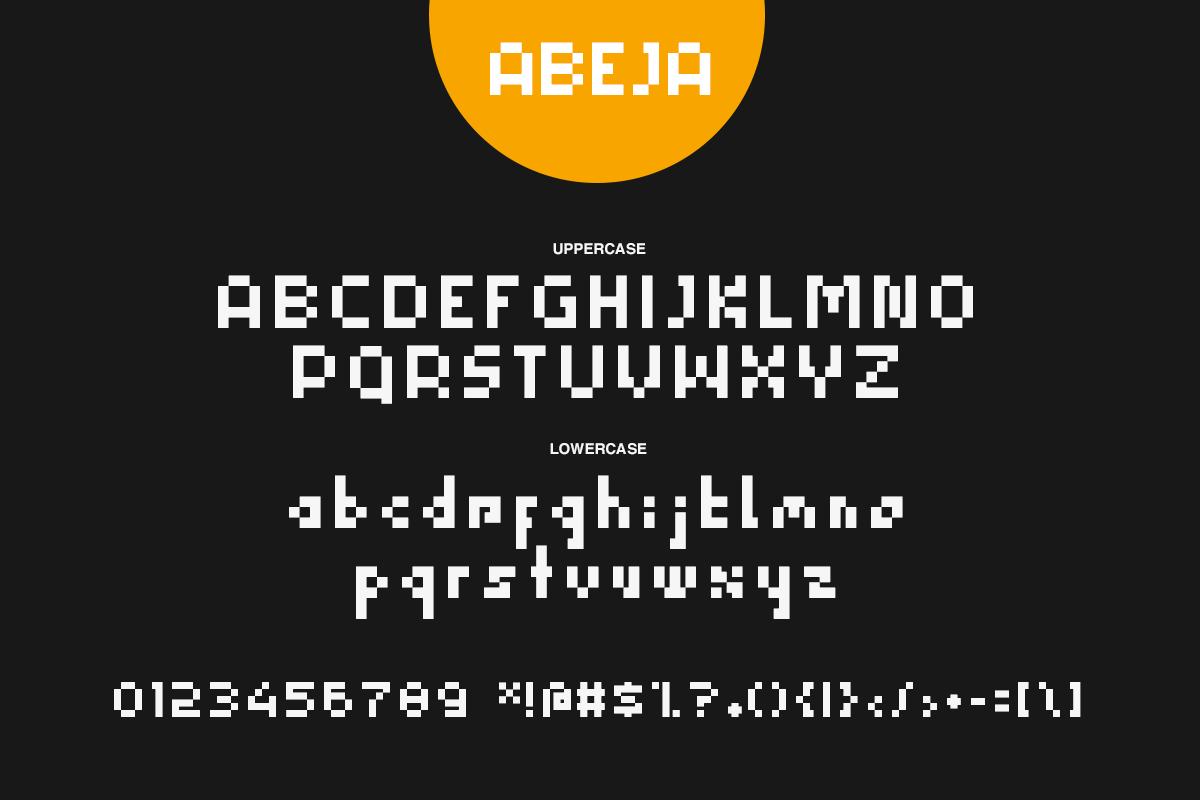 Abeja Font example image 2