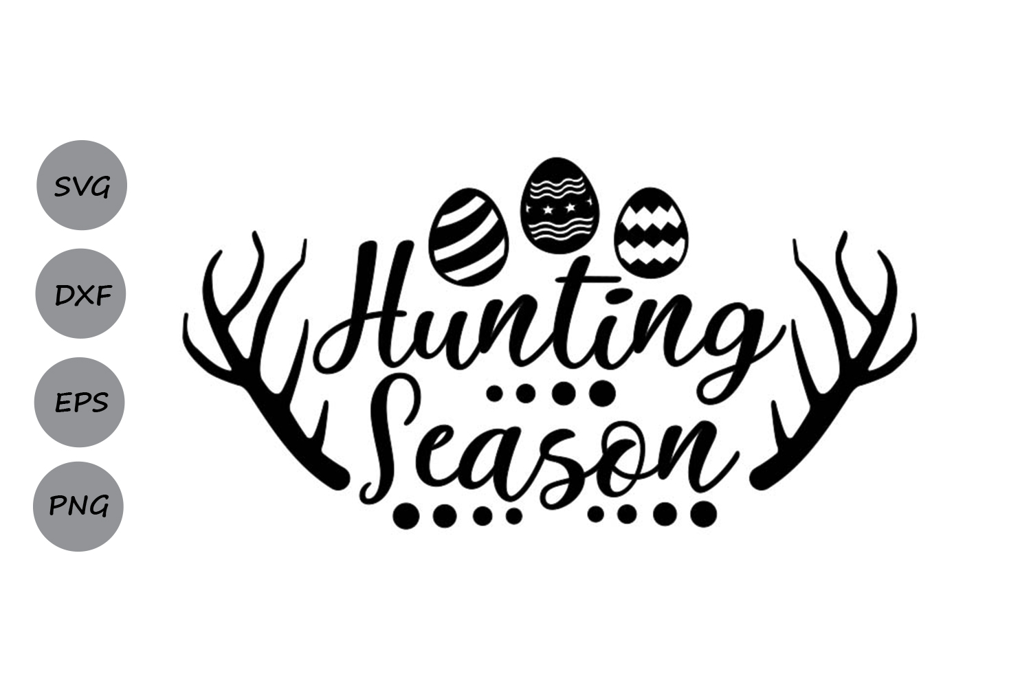 Hunting Season Svg, Easter Svg, Easter Eggs Svg, Spring Svg. example image 2