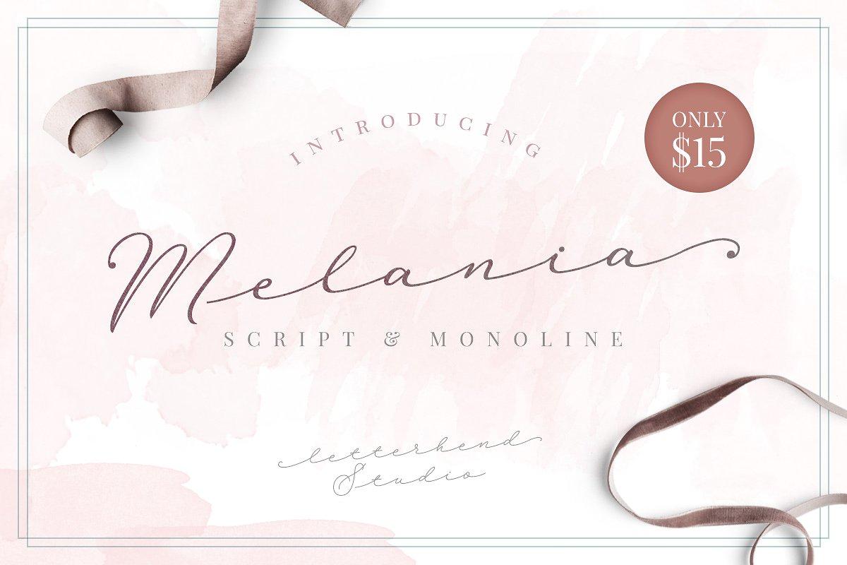 Melania Script example image 1