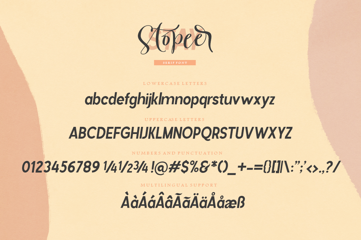 Stay Stopeer | Font Duo example image 10
