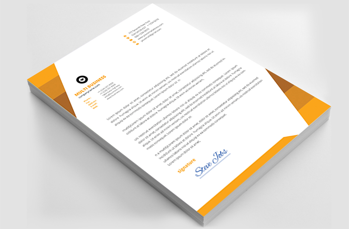 12 Clean Rsume Invoice and Letterhead Bundle example image 18