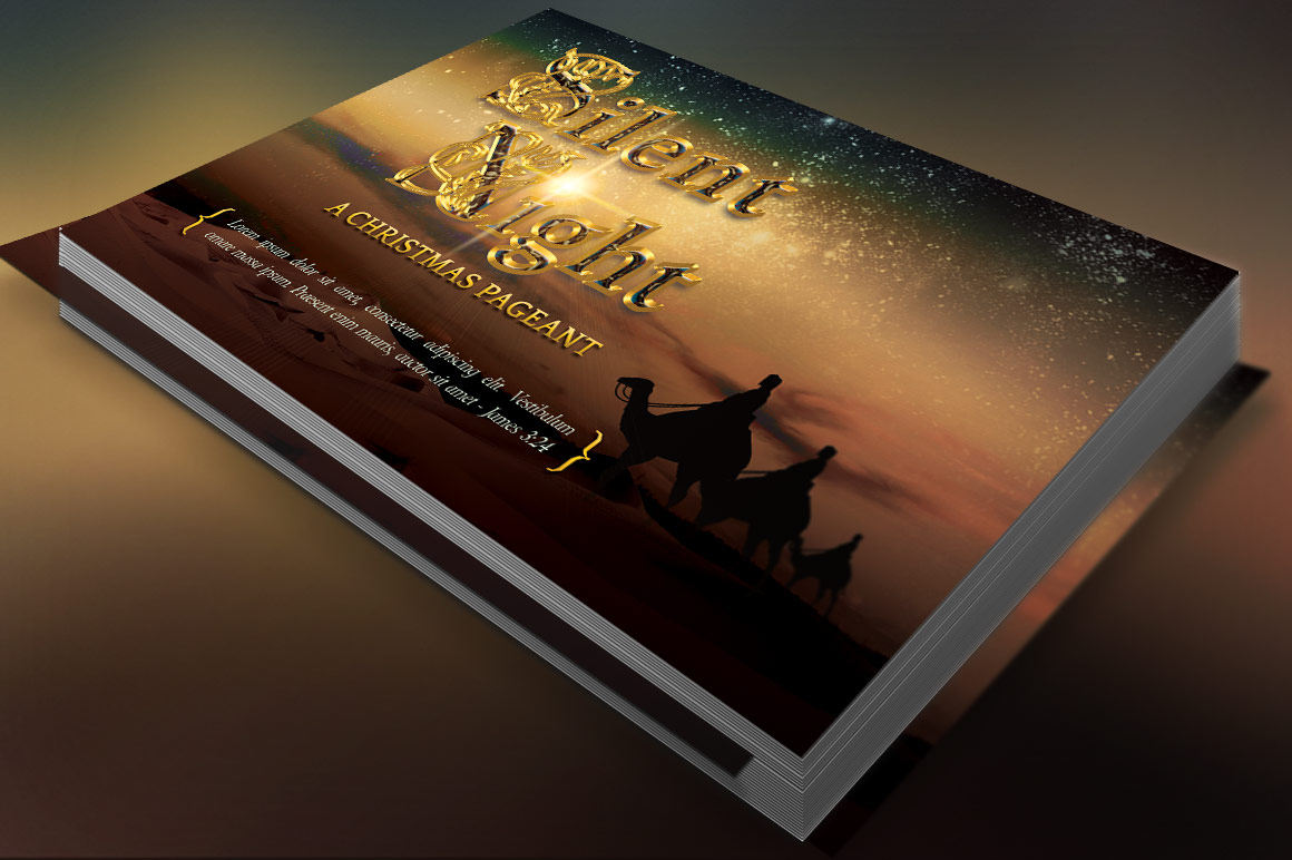 Silent Night Postcard Template example image 4