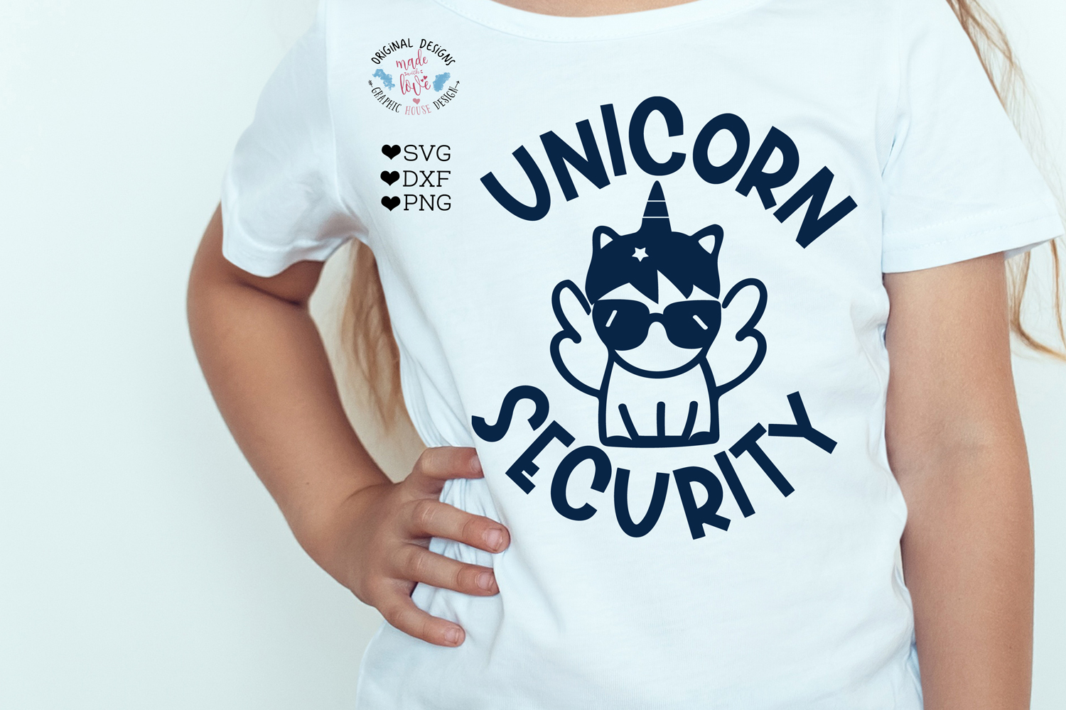 Unicorn Security Kids t-shirt Cut File - Kids svg example image 3