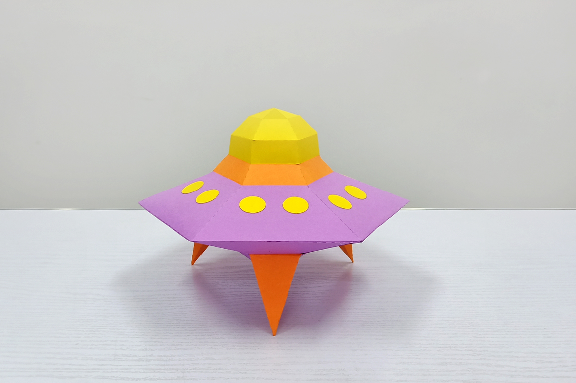 DIY Papercraft Alien ship,Papercraft UFO,X-files Ufo,Cricut example image 3