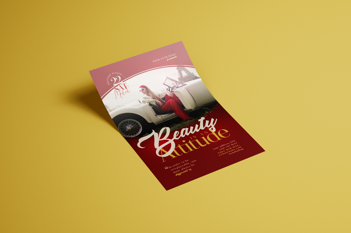 Beauty Is An Attitude Flyer Template example image 3