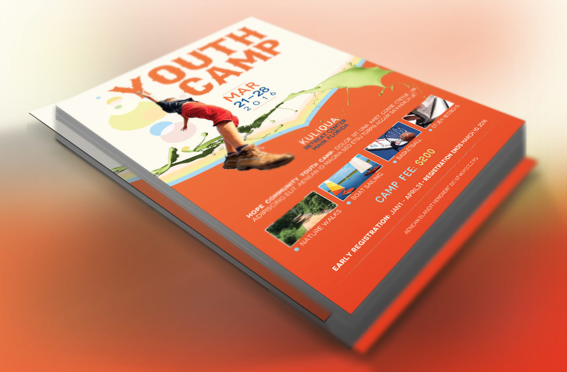 Youth Camp Flyer Template example image 2