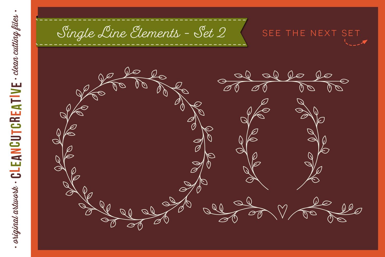 Single Line | Foil Quill | Sketch | Engrave SVG design file example image 4