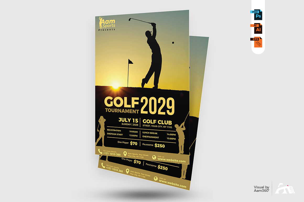 Golf Flyer Template example image 3