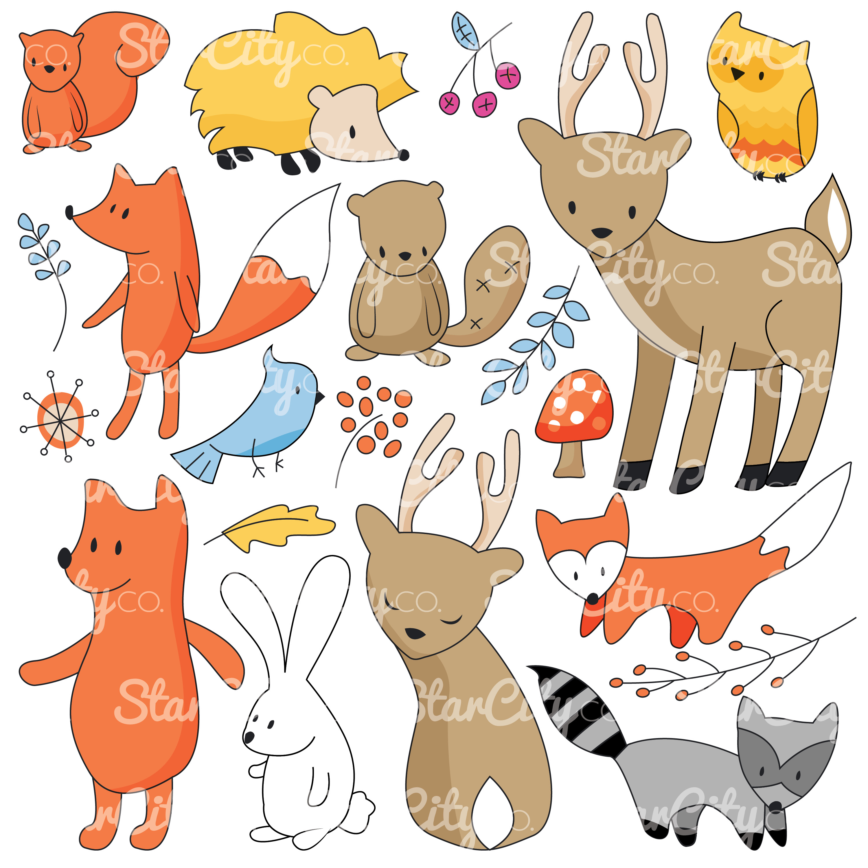 Forest Friends Clip art Graphics example image 2