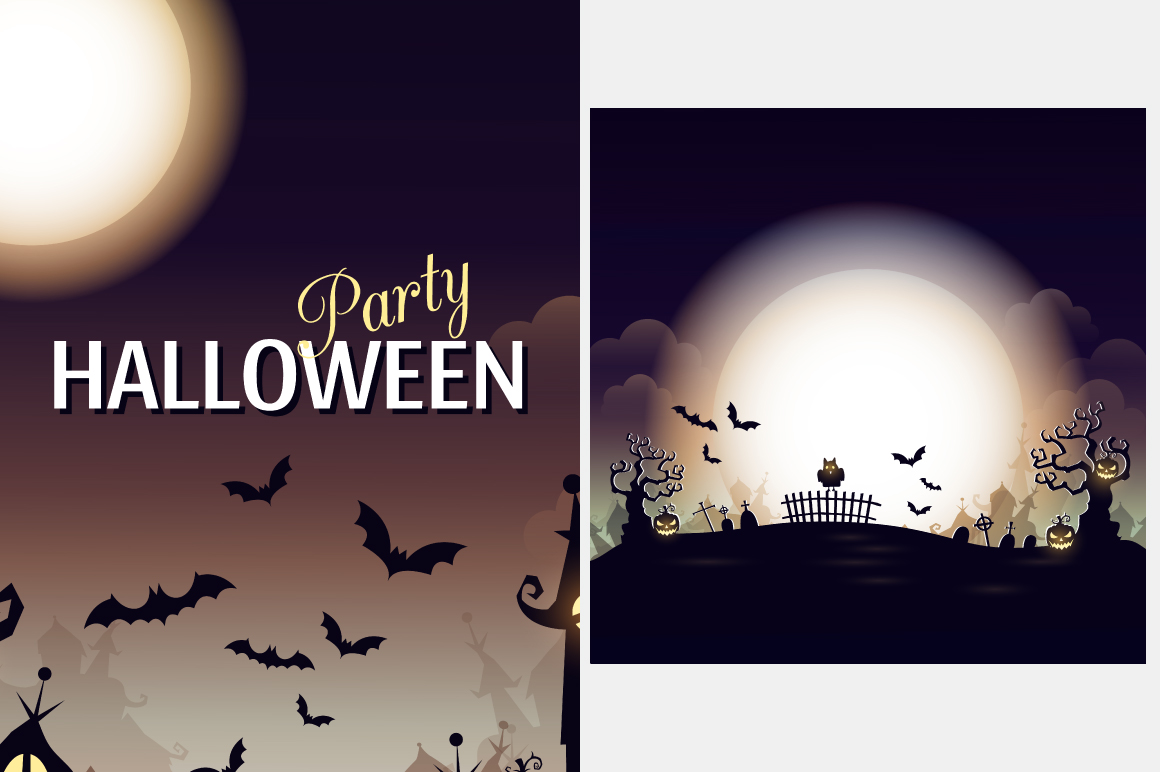 Halloween vector posters example image 4