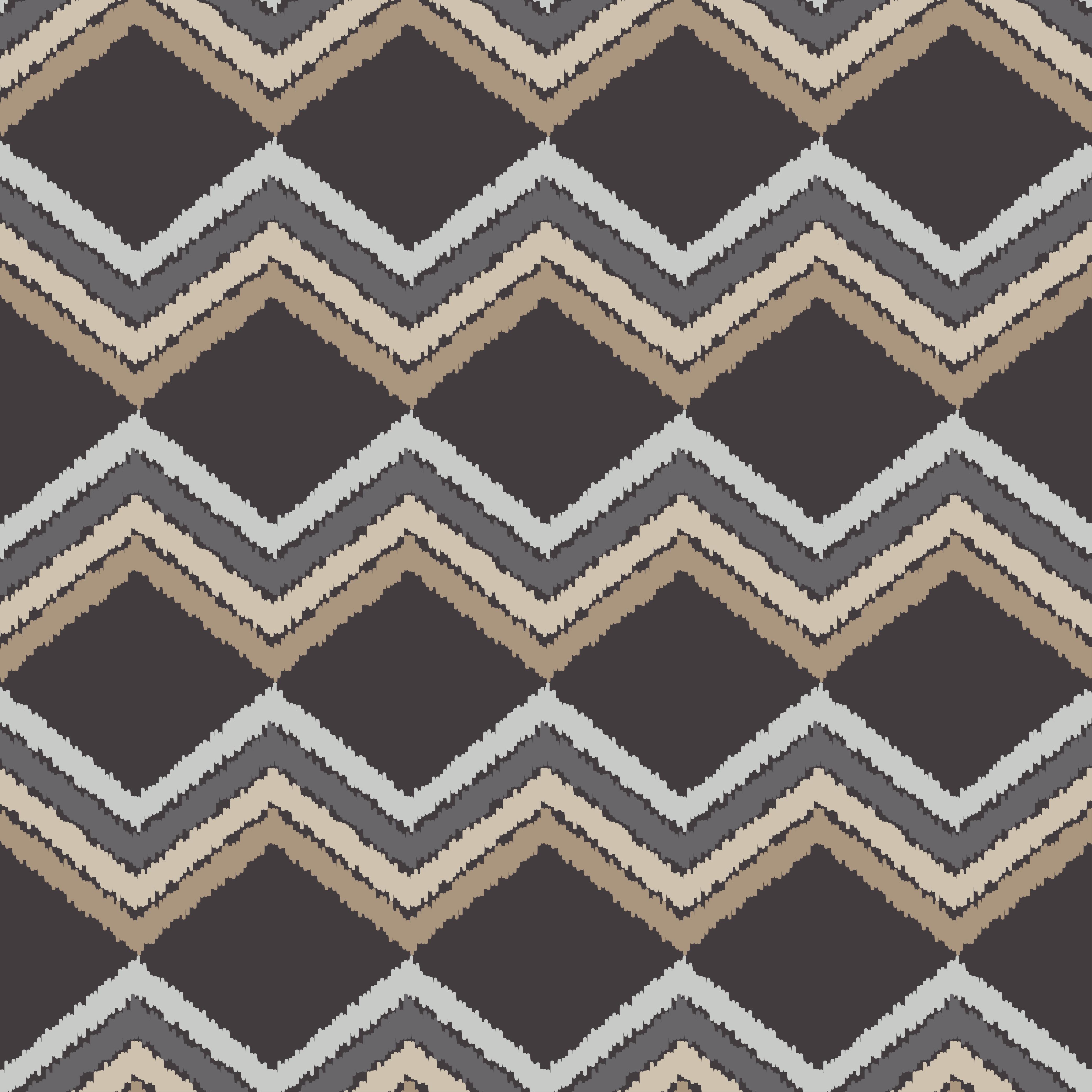 Ethnic boho seamless pattern. Scribble zigzag texture.  example image 3