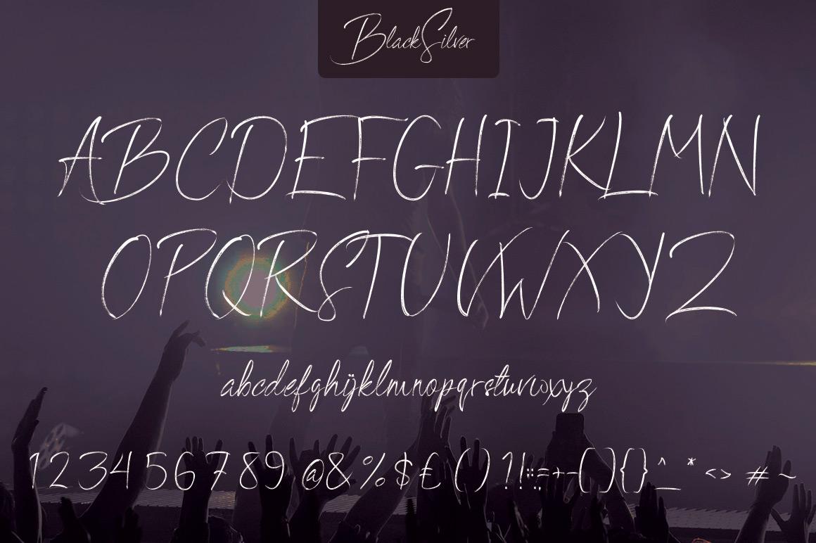 BlackSilver Brush Font example image 7