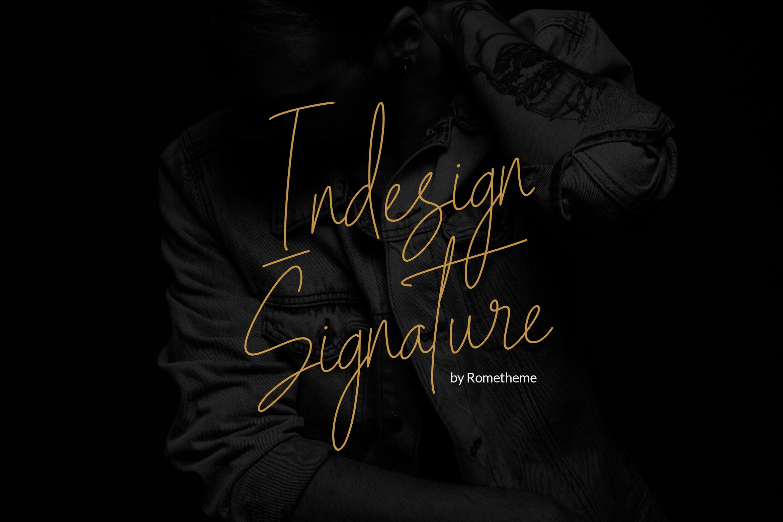 Indesign Signature Script example image 1