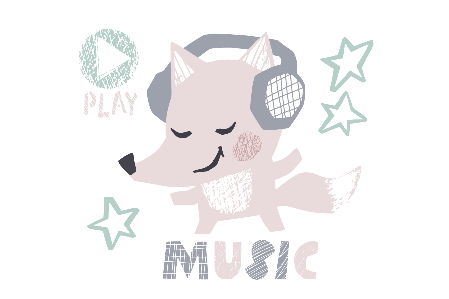 Dancing animals. Music kids vector example image 2