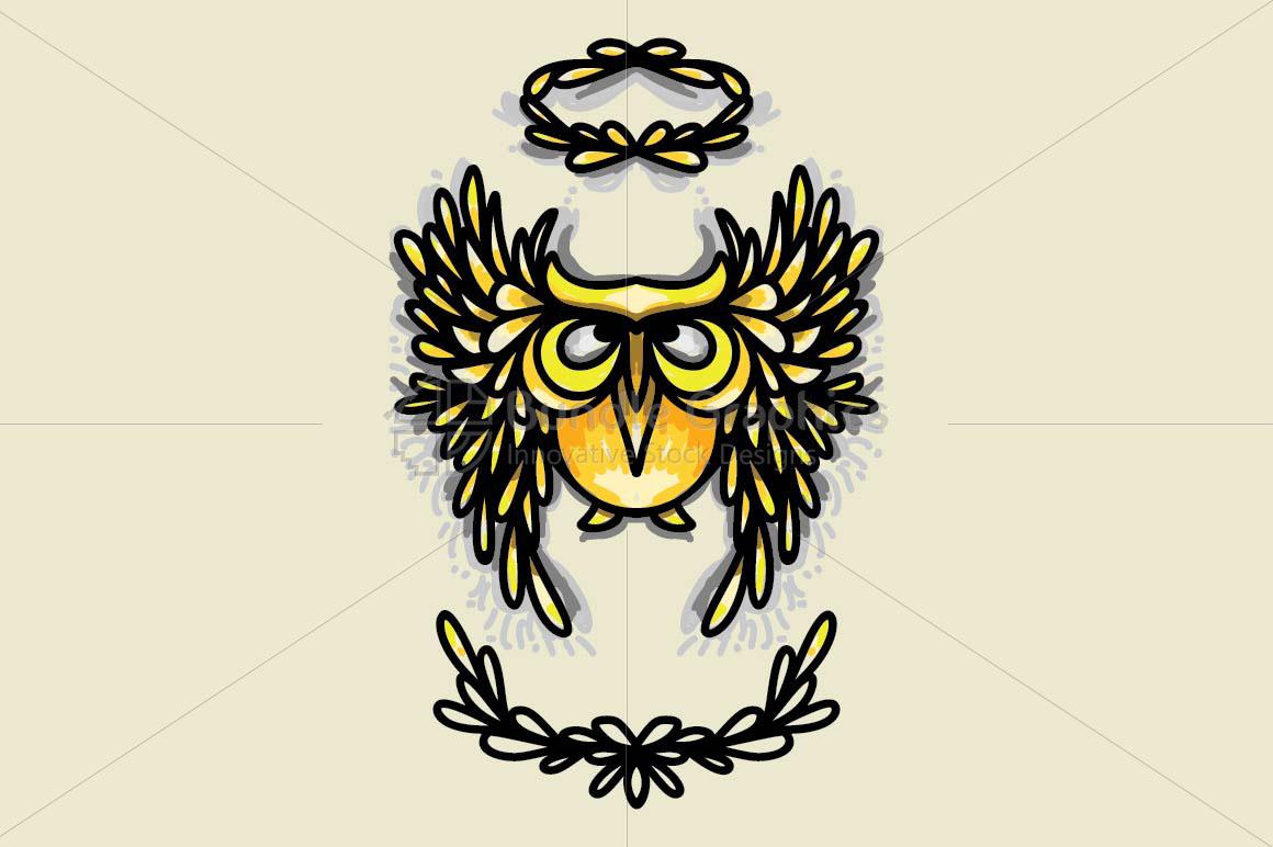 Angel Owl - Creative Graphic of Bird example image 1