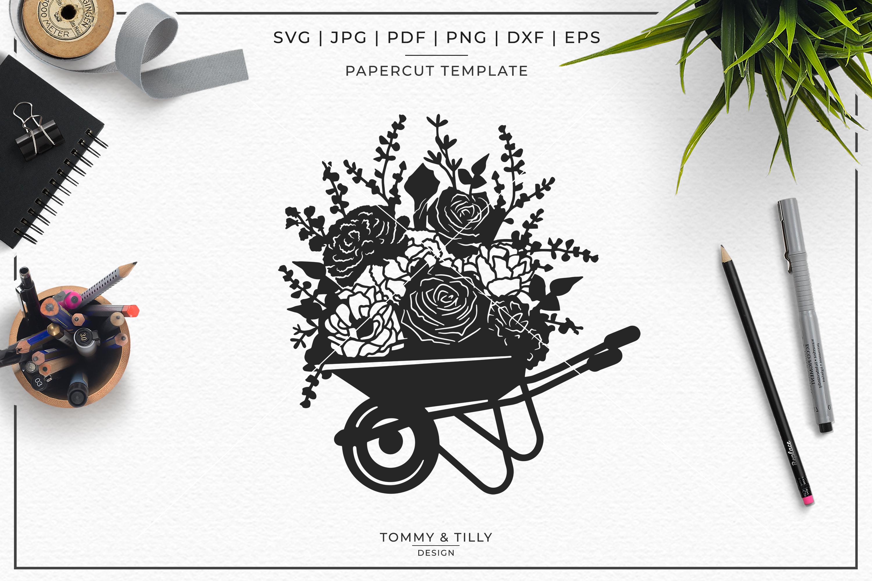 Romantic Floral Wedding Bundle - Papercut SVG DXF PNG JPG PD example image 5