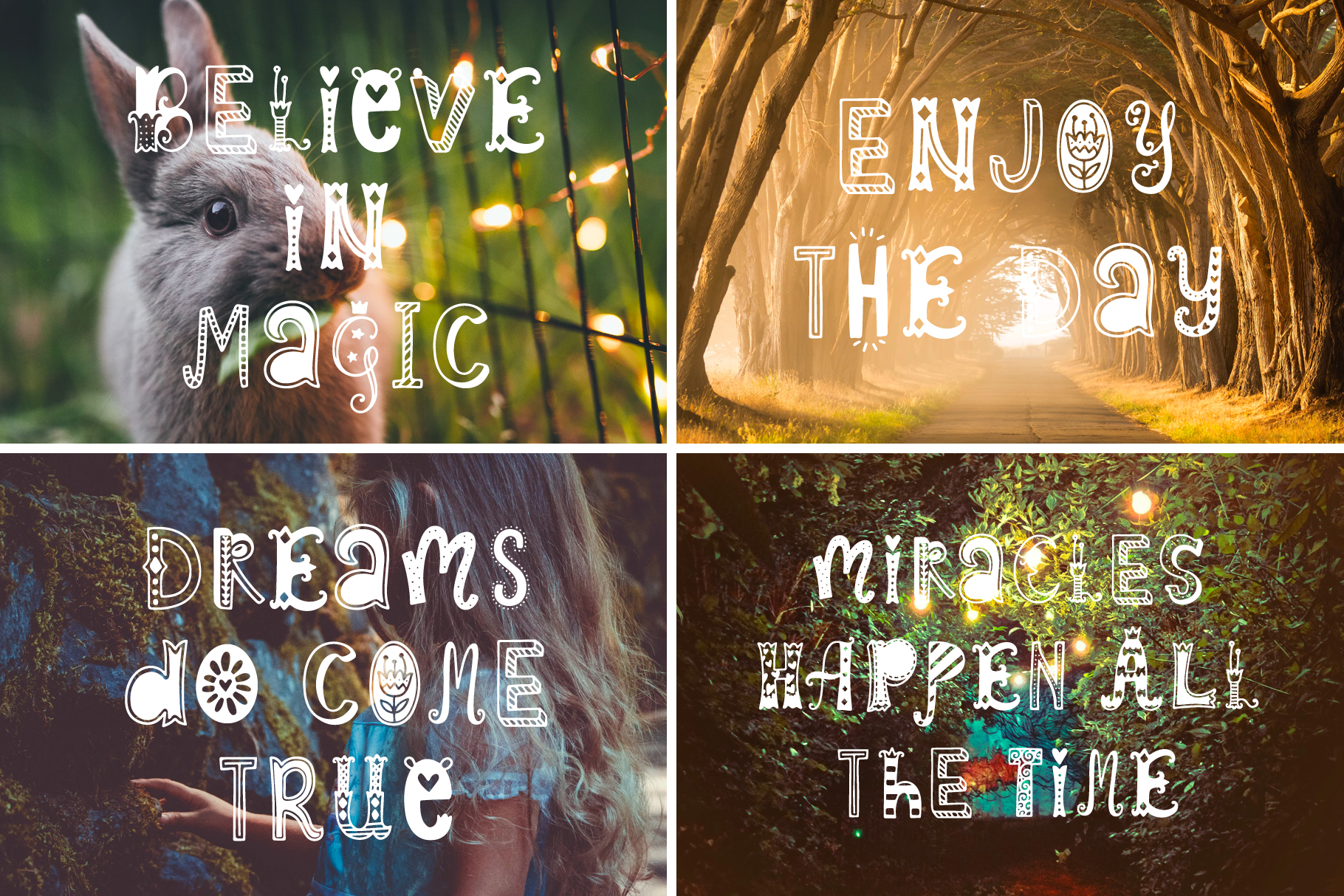 Spring Dreams Typeface with Clipart example image 6