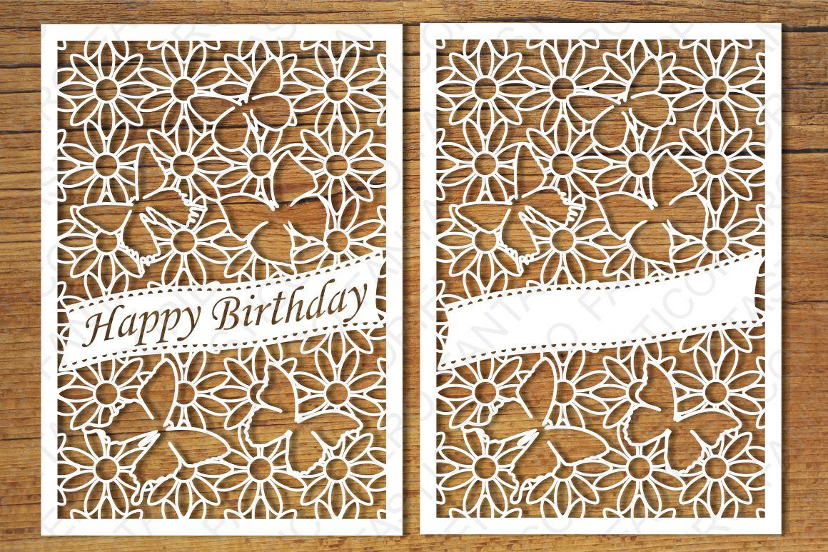 Happy Birthday, Greeting Cards 2 SVG Files
