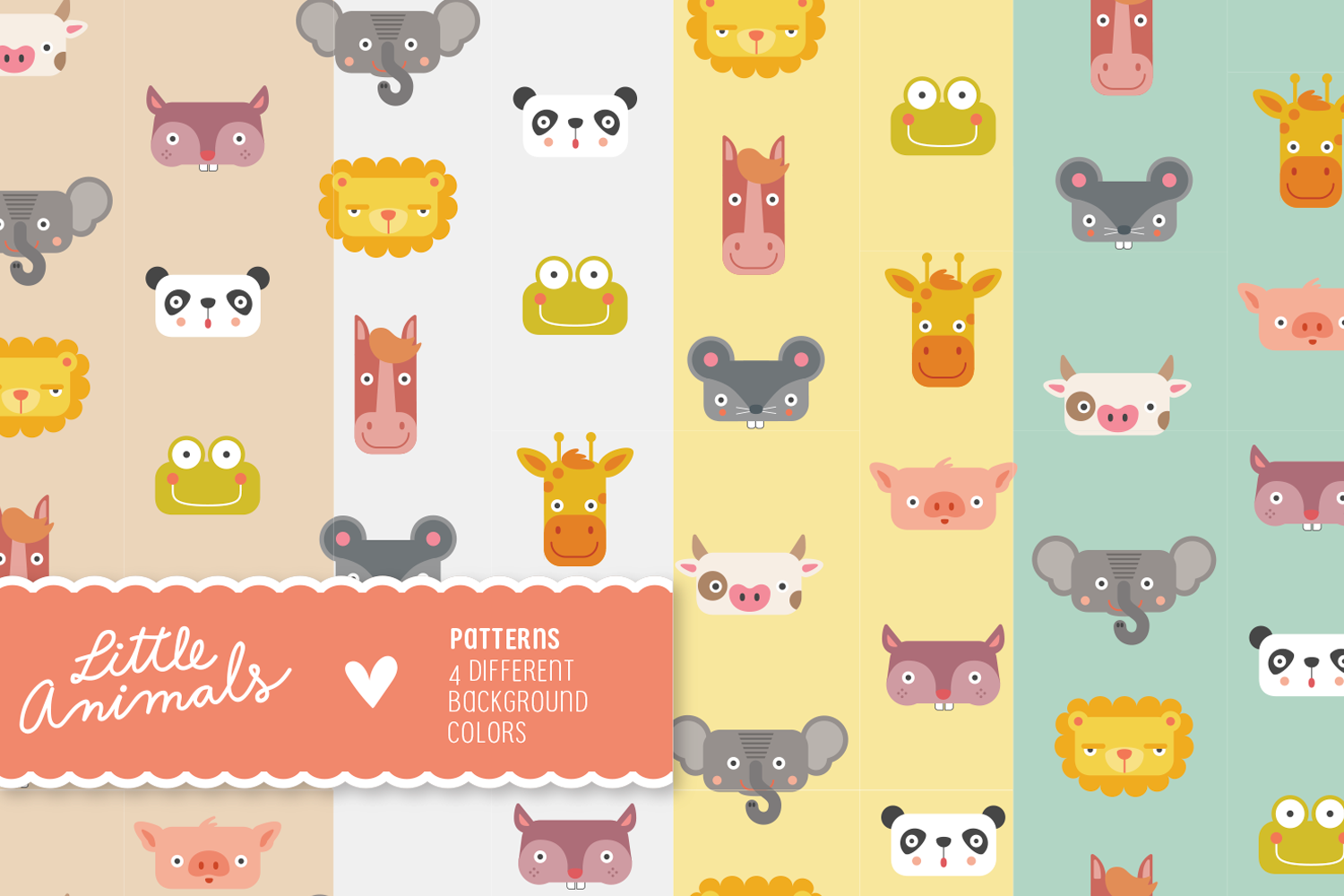 Little Animals Patterns + Characters example image 5