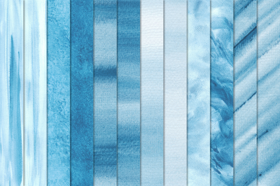 Blue Watercolor Texture Backgrounds example image 2