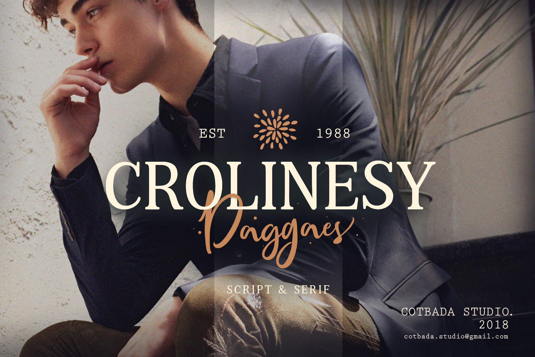Crolinesy Daggaes Font Duo example image 1