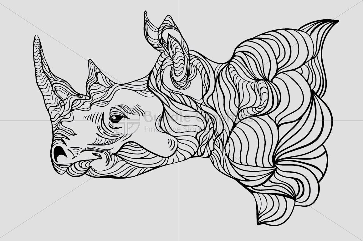 Rhinoceros - Wild Animal Creative Graphics example image 2