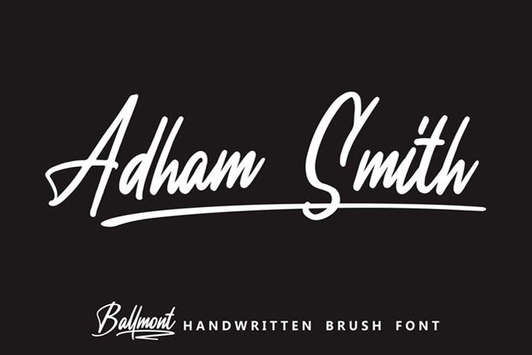 Ballmont - Handwritten Script Font example image 2