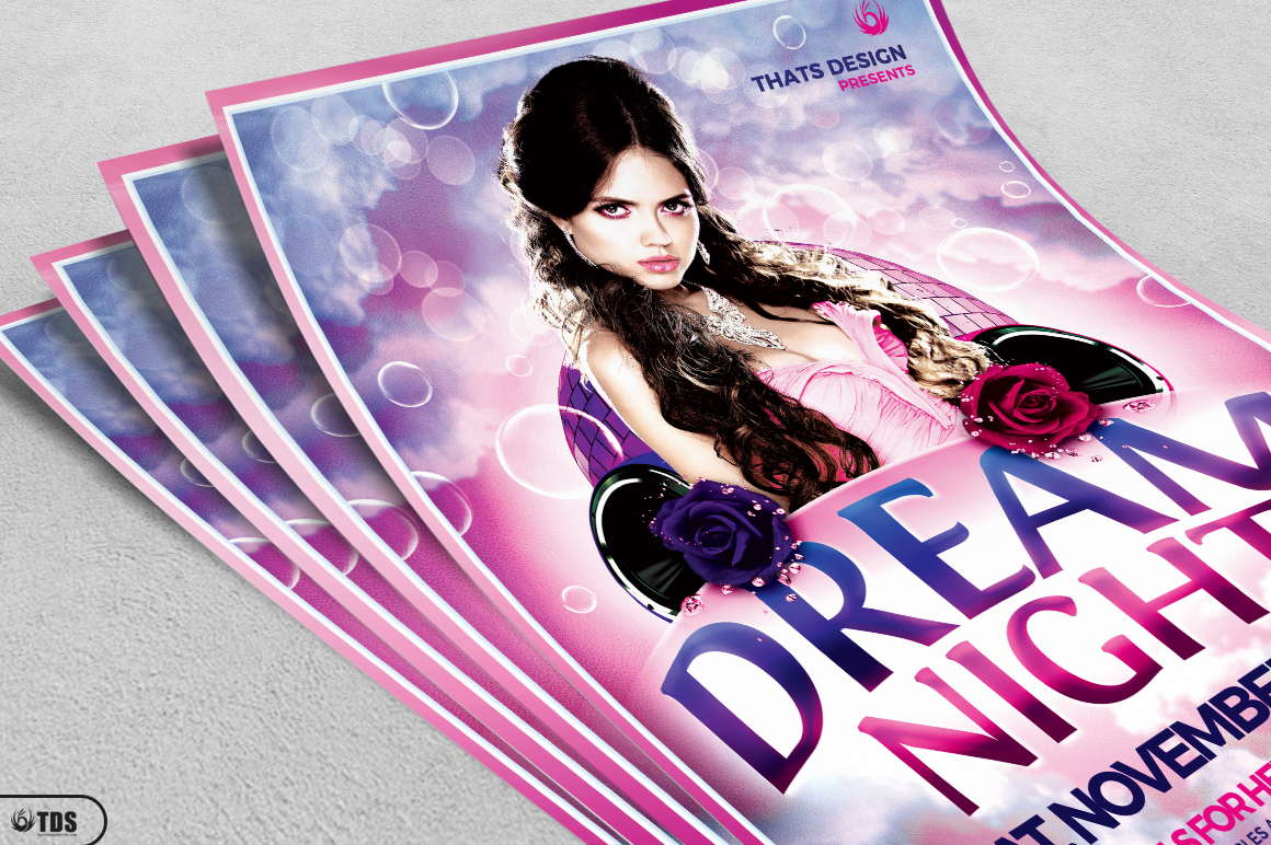 Dream Night Flyer Template example image 3