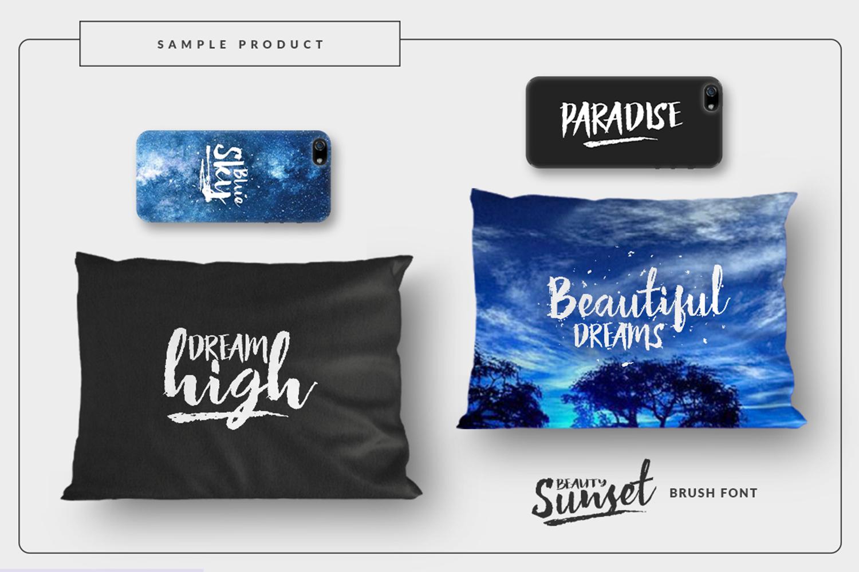 Beauty Sunset + Swashes example image 3