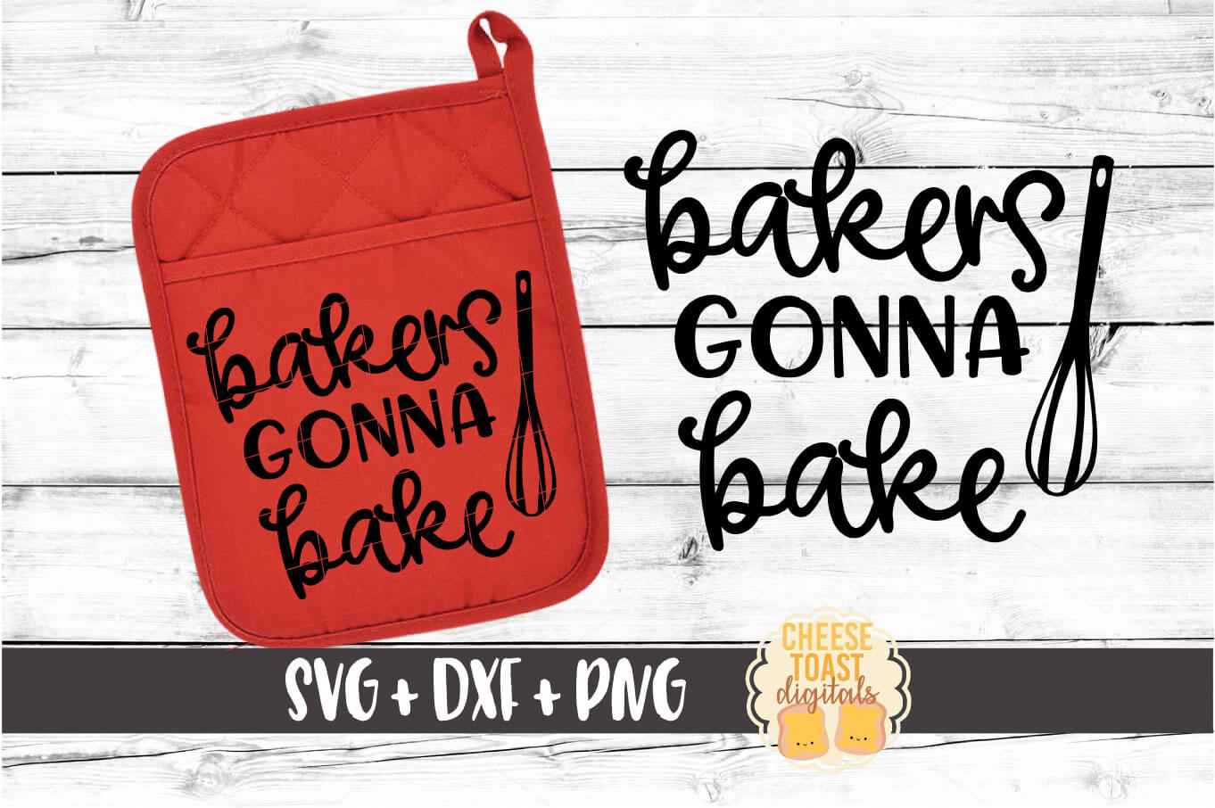 Pot Holder Bundle - Oven Mitt SVG PNG DXF Cut Files example image 2