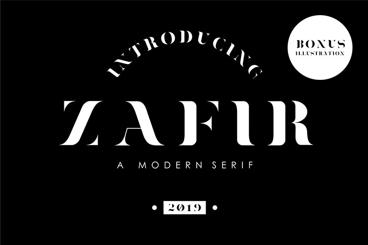 Zafir - Serif Font example image 1