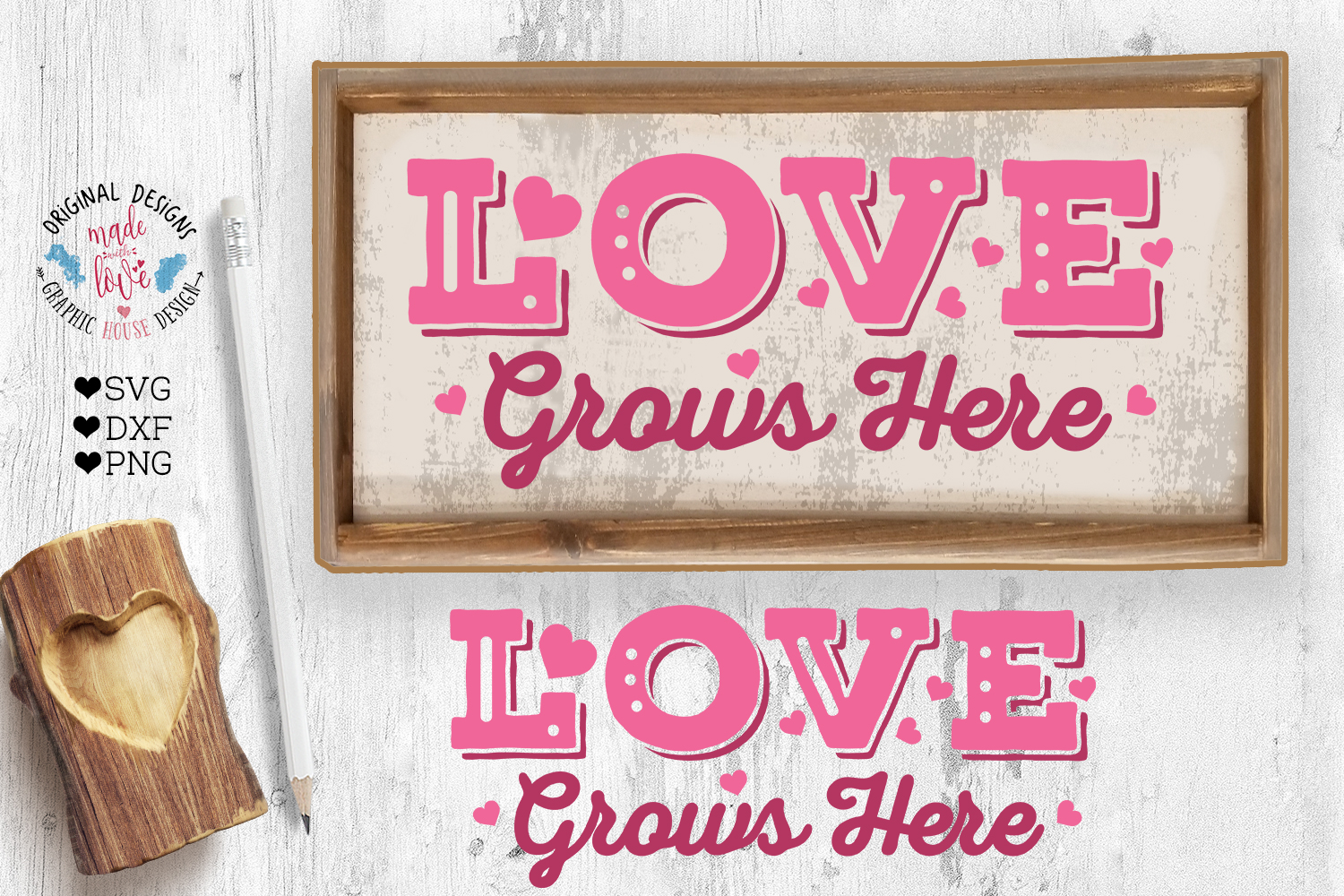 Love Valentines Porch Sign Cut File example image 2