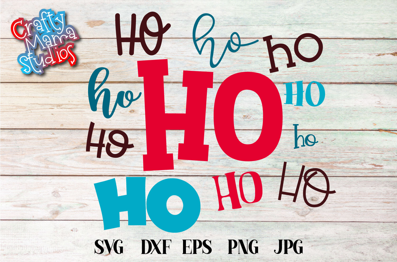 Christmas SVG, Ho Ho Ho Sublimation, Merry Christmas example image 2