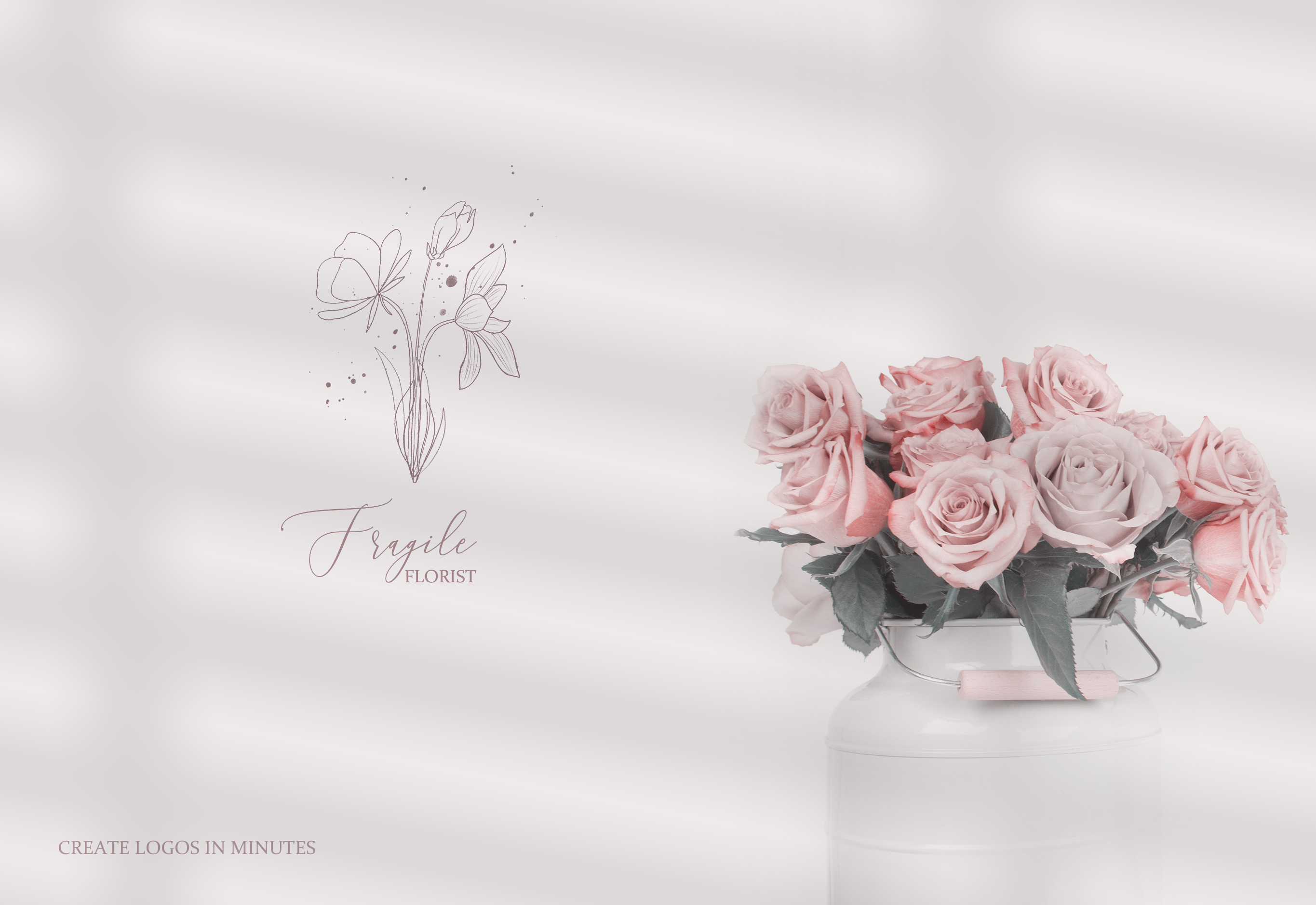 Fine Art Pencil Sketch Florals, Gold Brush Strokes, Textures example image 7