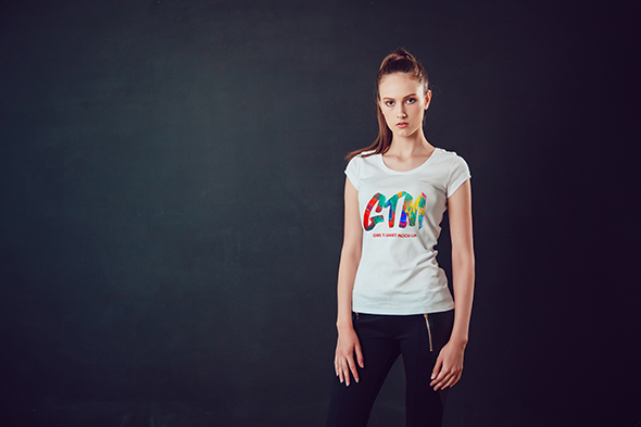 Women's T-shirts Mock-Up Vol 2 example image 11