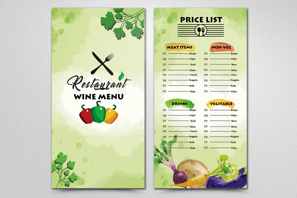 Restaurant food Menu Template example image 2