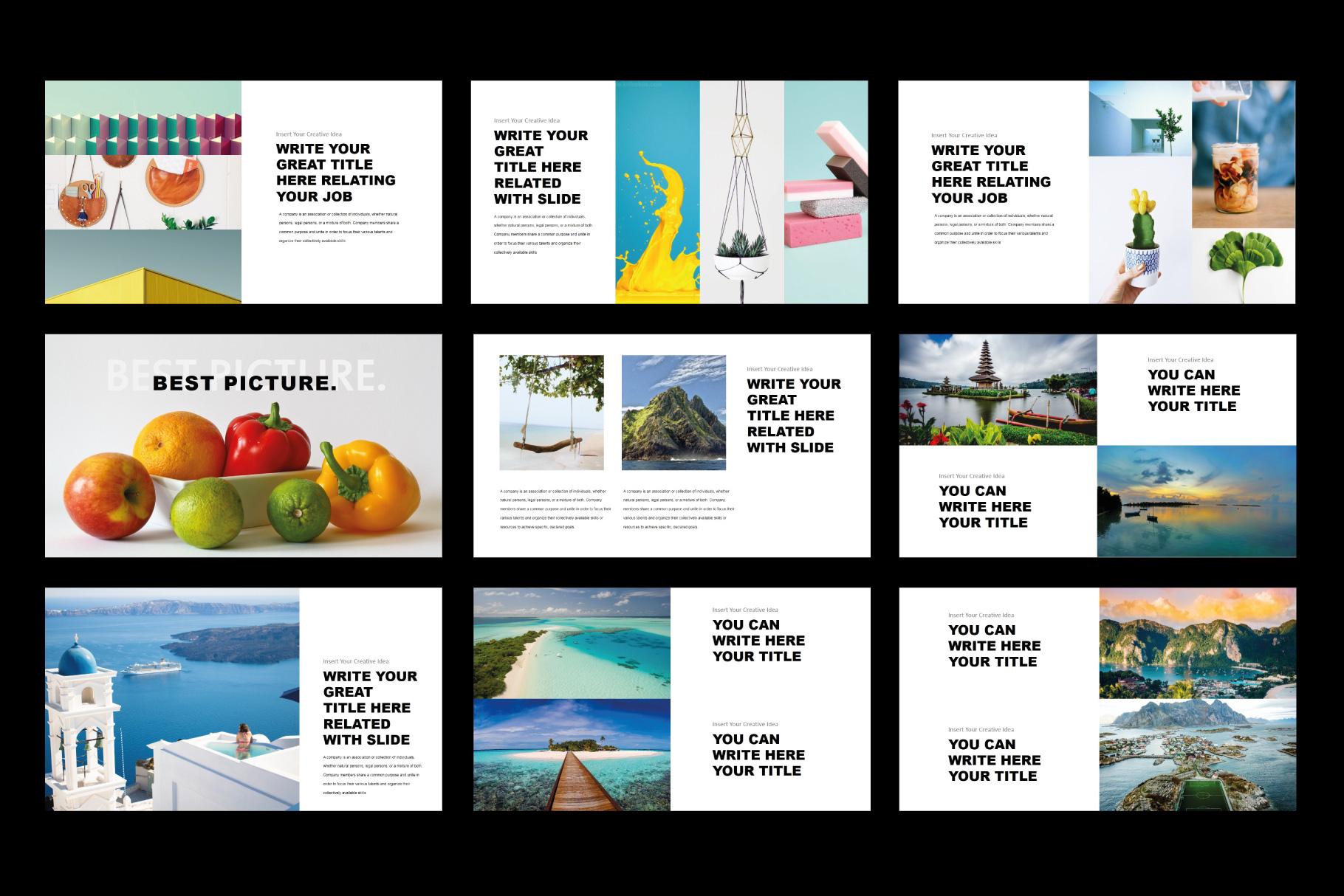 Tuxedo Minimal PowerPoint Templates example image 7