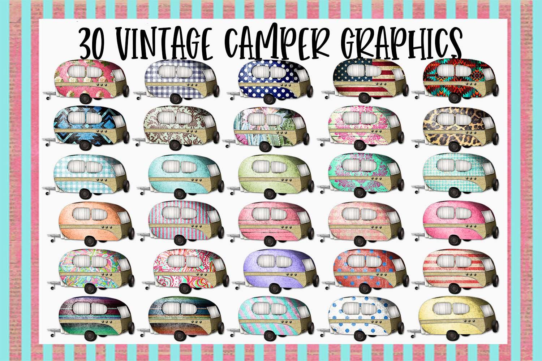30 Vintage Camper Sublimation Graphics Bundle example image 1