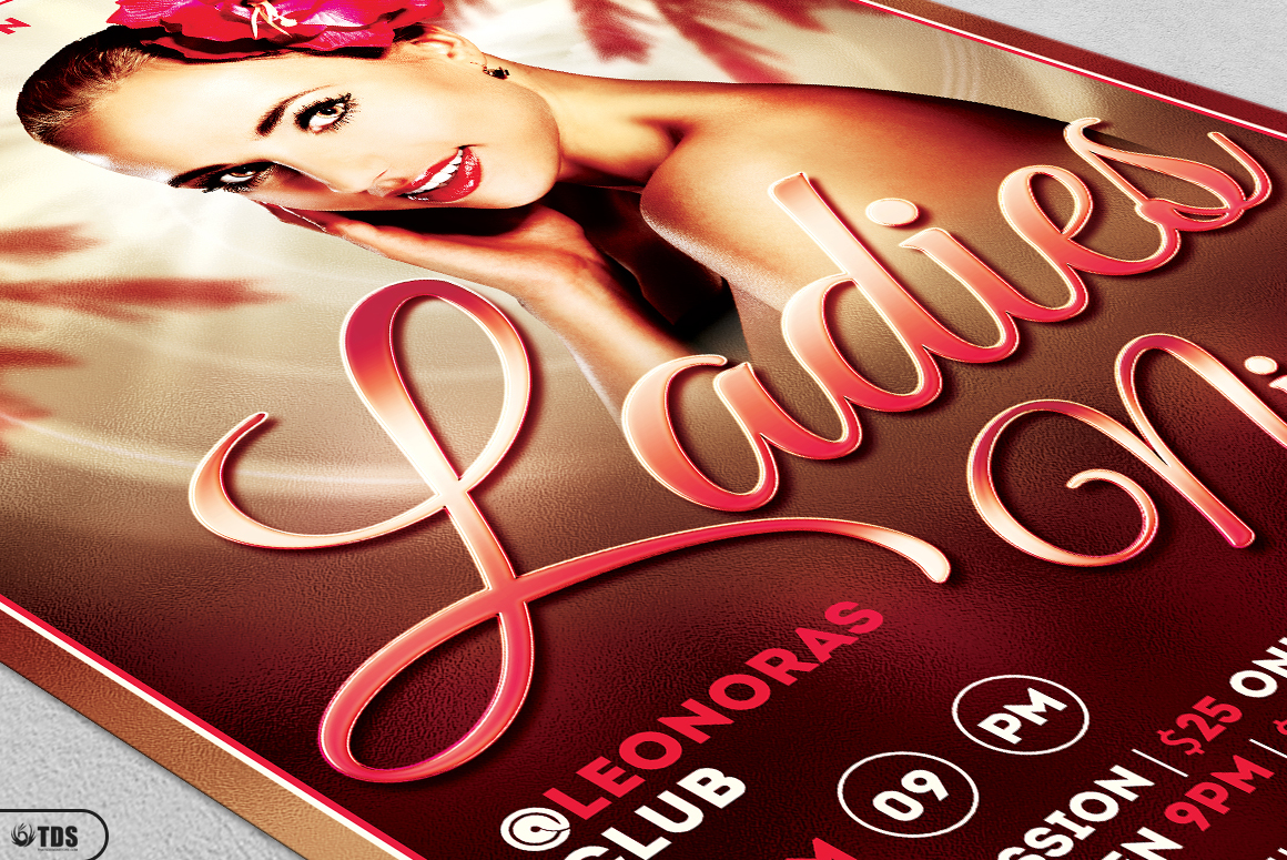 Sensual Ladies Night Flyer Template example image 5