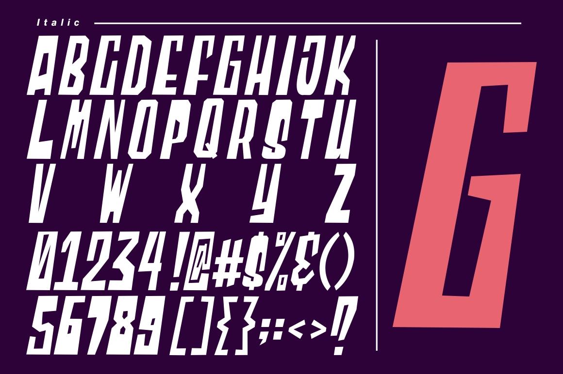 Blocky - Regular & Italic example image 7