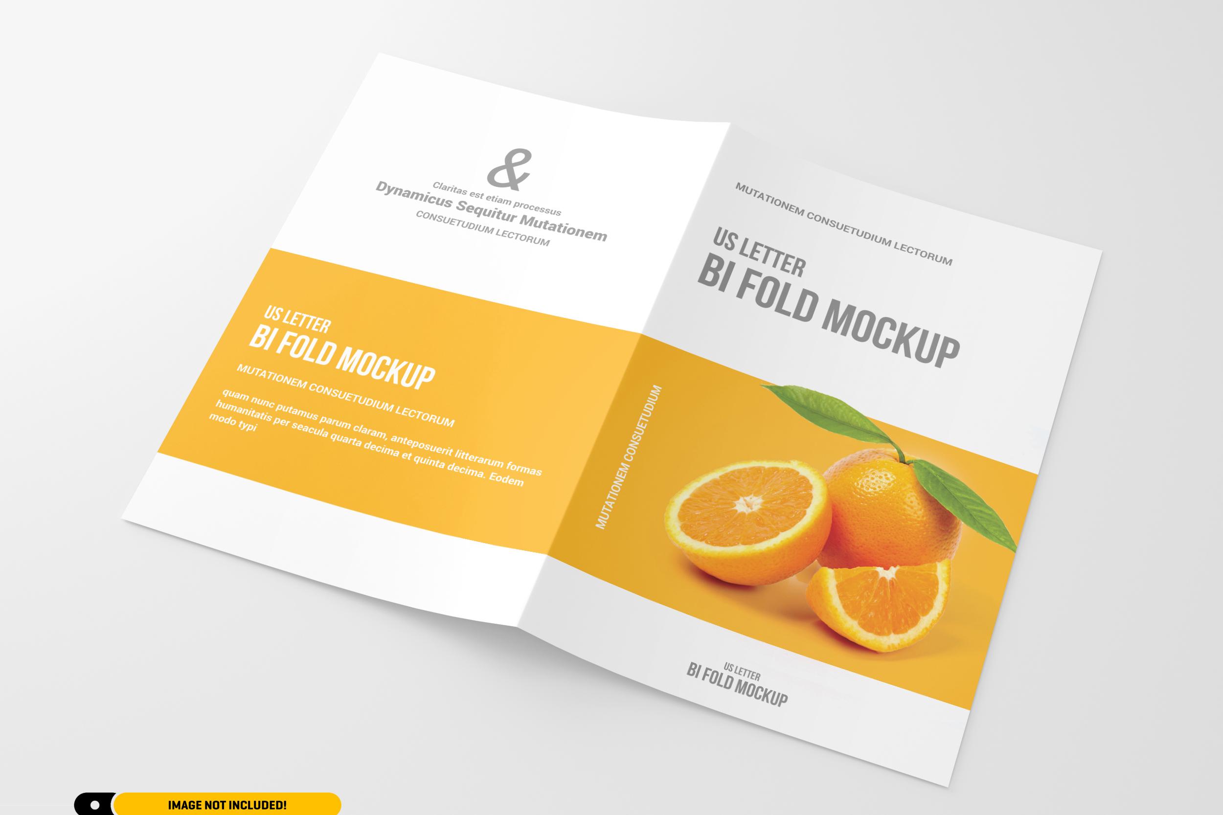 US Letter Bifold Brochure Mockup example image 5