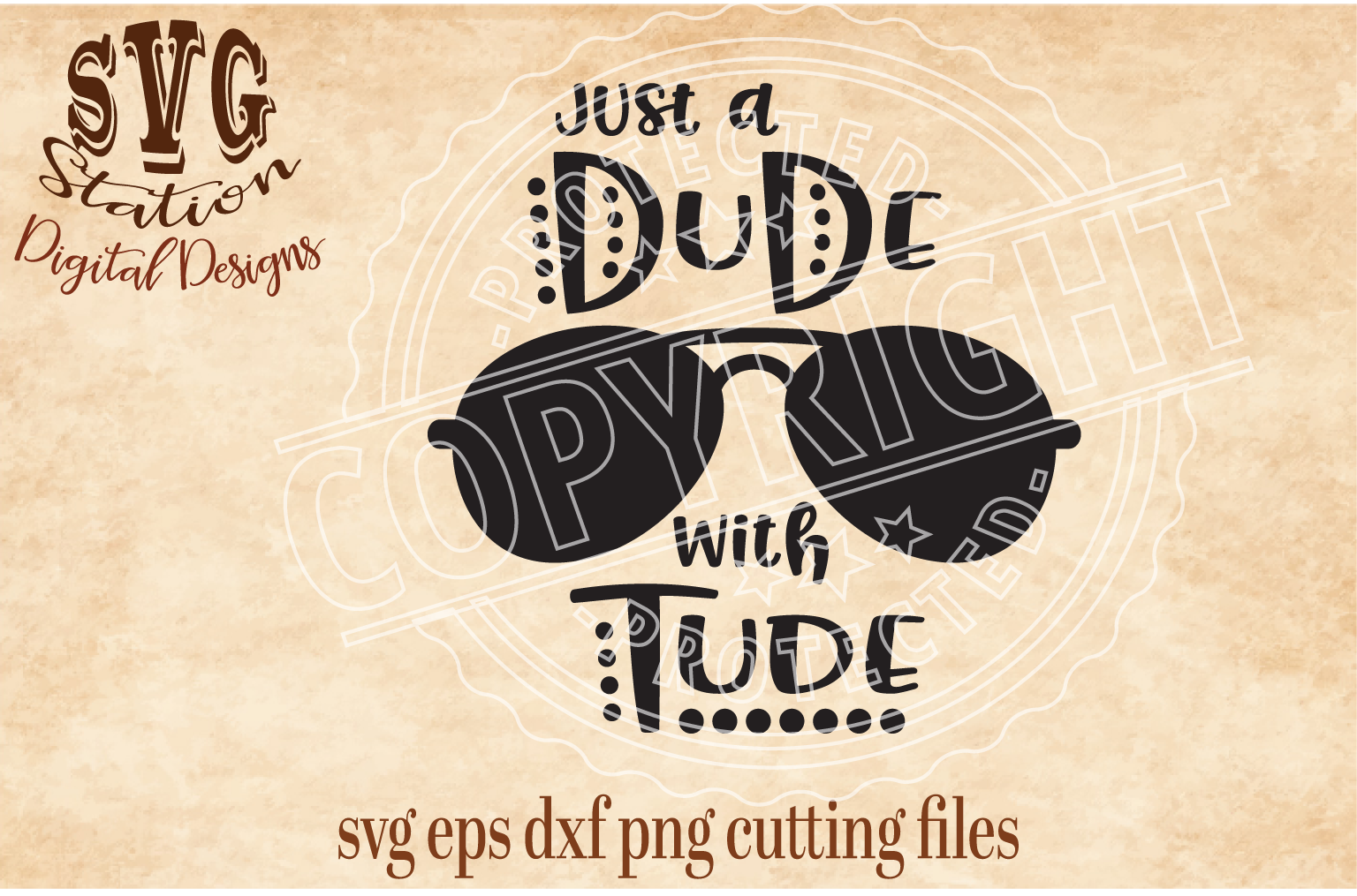 Dude With Tude Cut File example image 1
