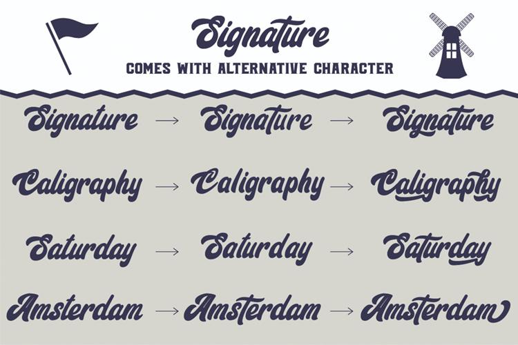 Signature Script Trio Font example image 3