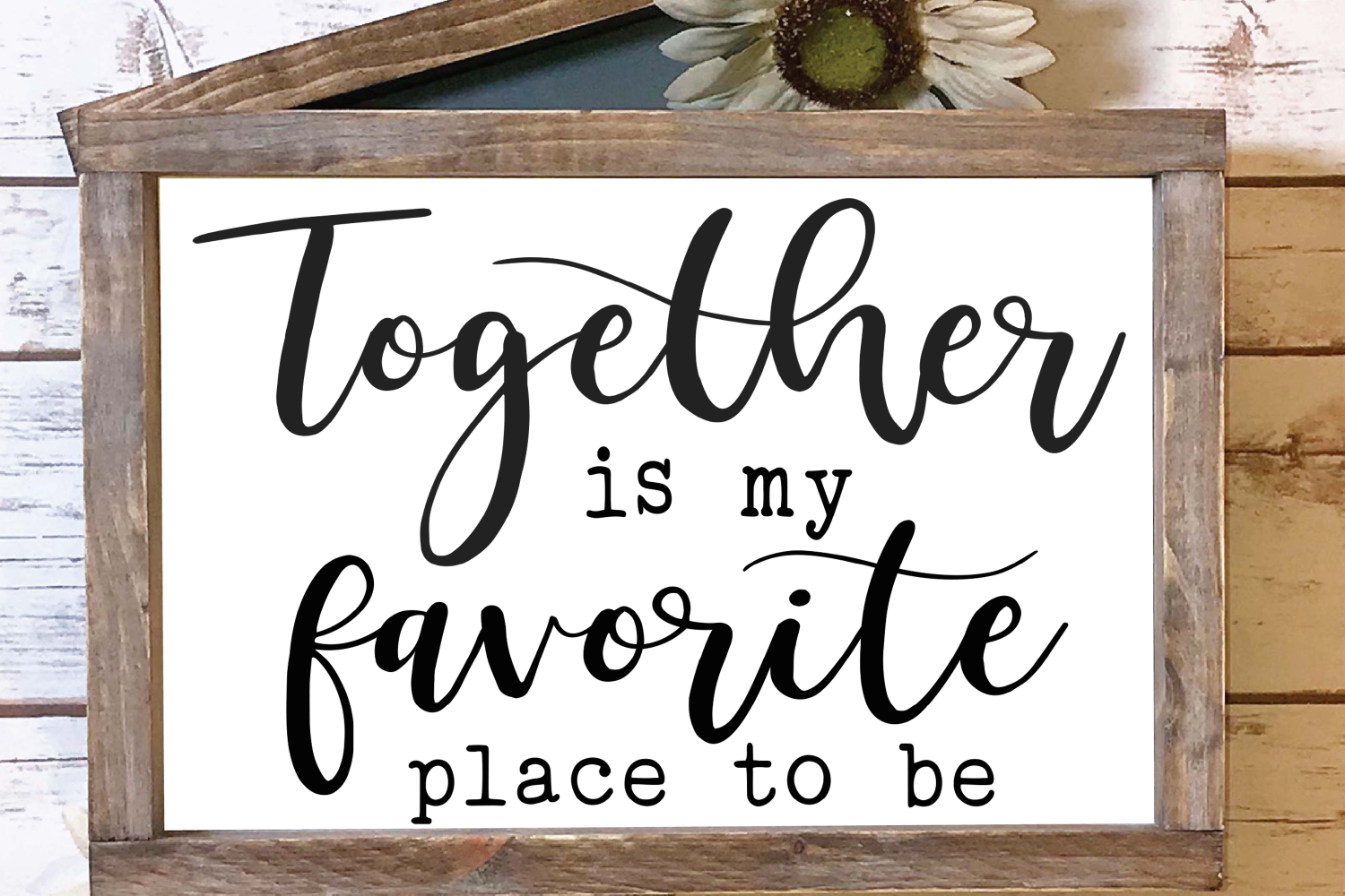 Together is my Favorite Place to Be SVG example image 3