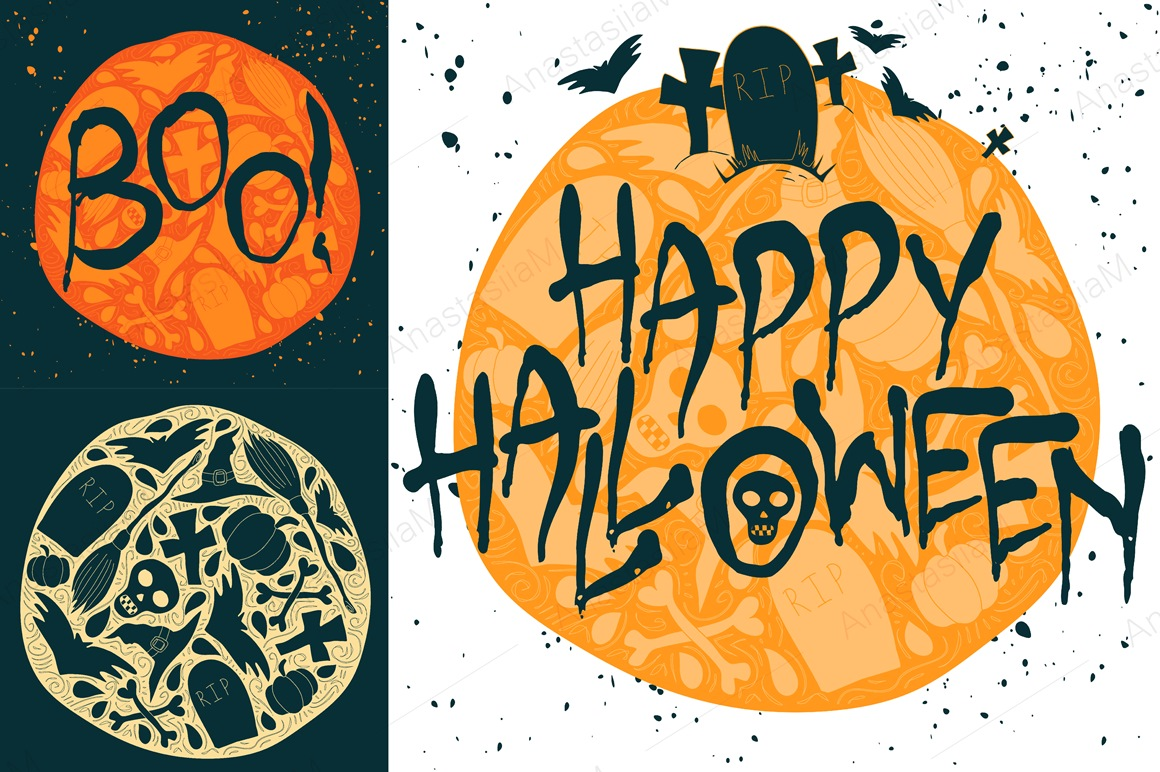 9 Halloween Greeting Cards example image 3